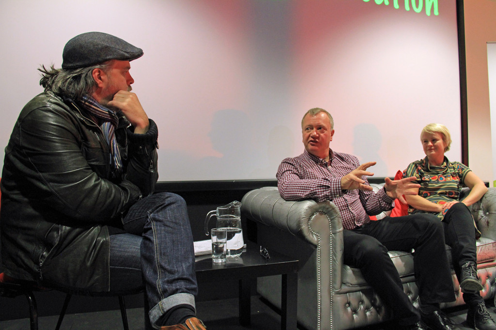 Dare Corlett interviews David Griffith and Inge Sorensen after the screening of TimeLock at the GMAC cinema